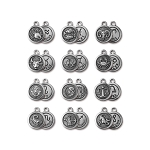 TierraCast Zodiac Charms, Antique Silver